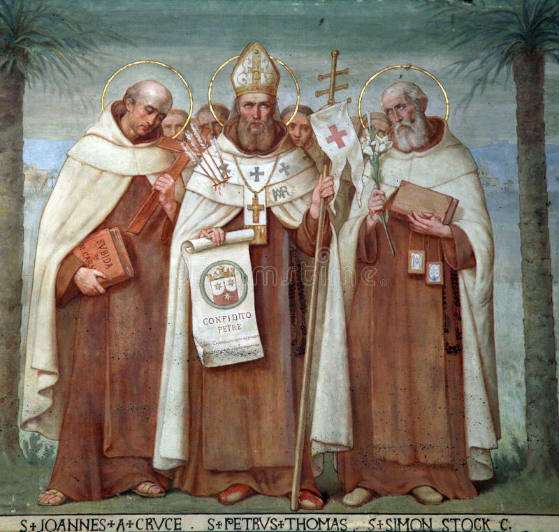 San Carmelite immagine stock
