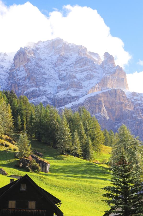 SAN Cassiano Ιταλία στοκ εικόνες με δικαίωμα ελεύθερης χρήσης
