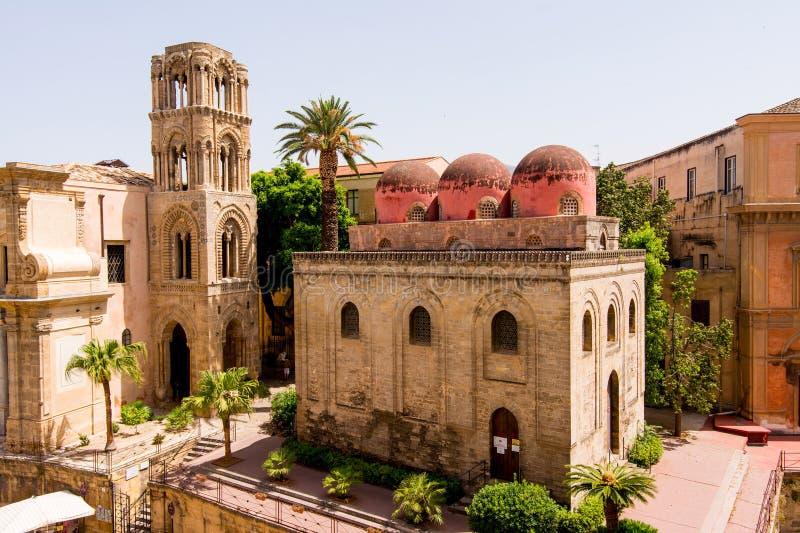 San Cataldo kościół w Palermo, Sicily obraz royalty free