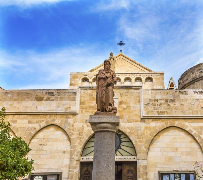 San Catherine Church Nativity Church Bethlehem Palestina immagini stock libere da diritti