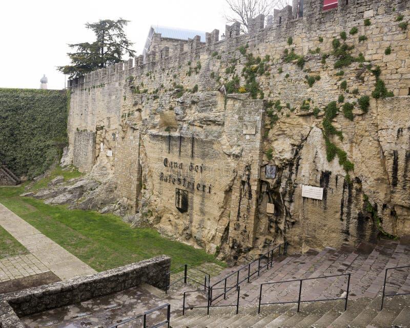 San cave Marino Balestrieri image libre de droits
