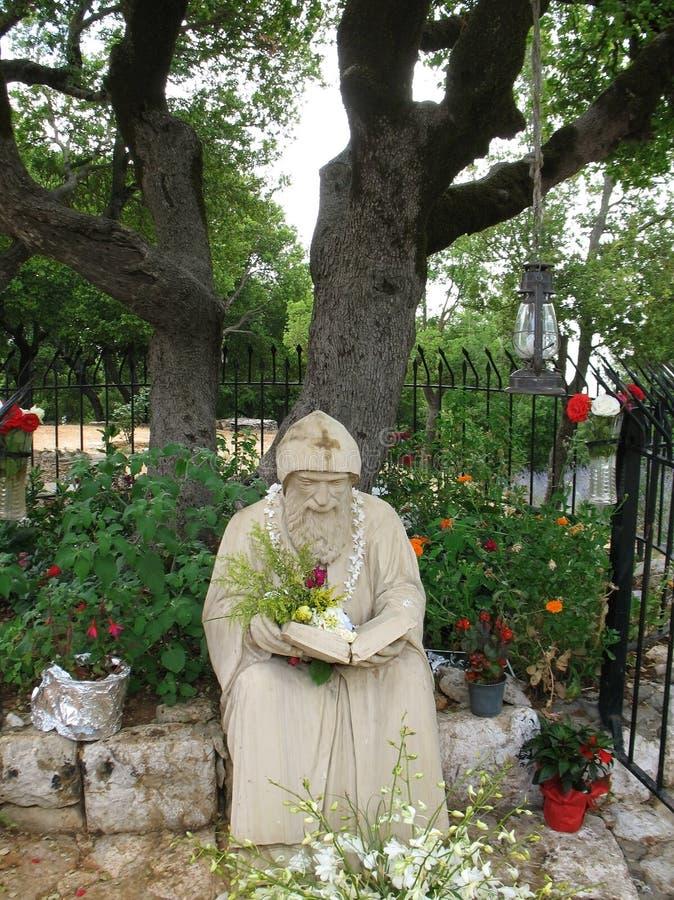 San Charbel Statue immagini stock libere da diritti