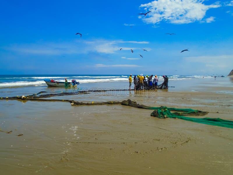 San Clemente beach in Ecuador royalty free stock photo