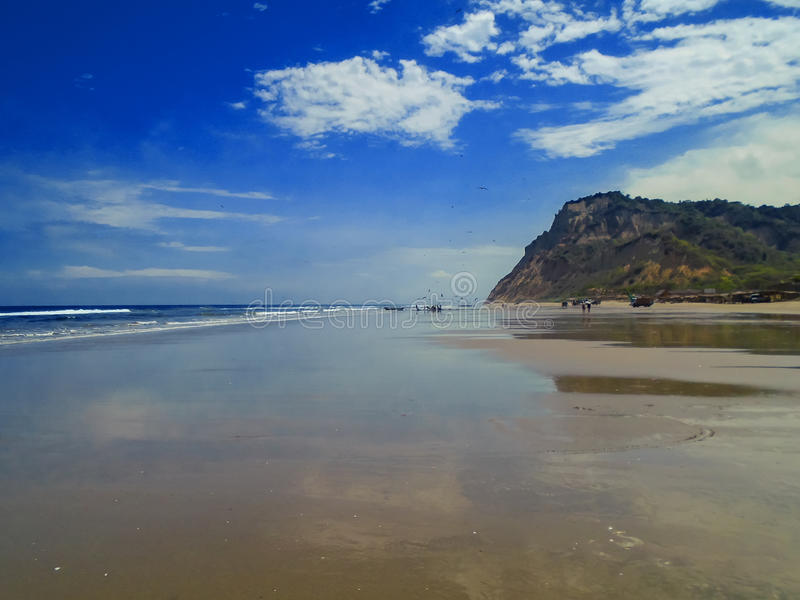 San Clemente beach in Ecuador. View at San Clemente beach in Ecuador stock photography