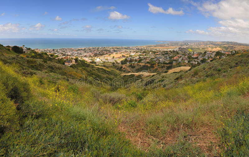 San Clemente California View. City skyline view of San Clemente horizon in California stock image
