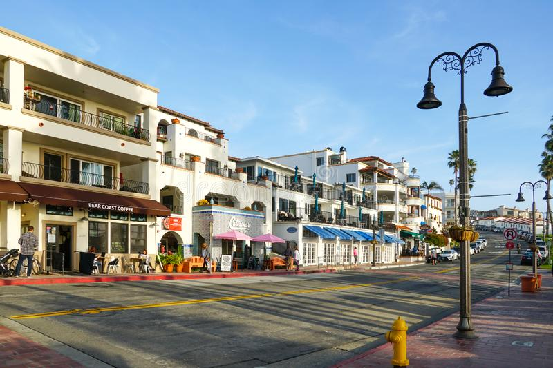 San Clemente city street in front of the pier before sunset time stock photography
