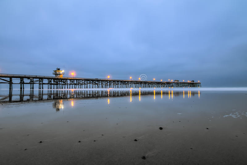 San Clemente pier. At lowtide stock images