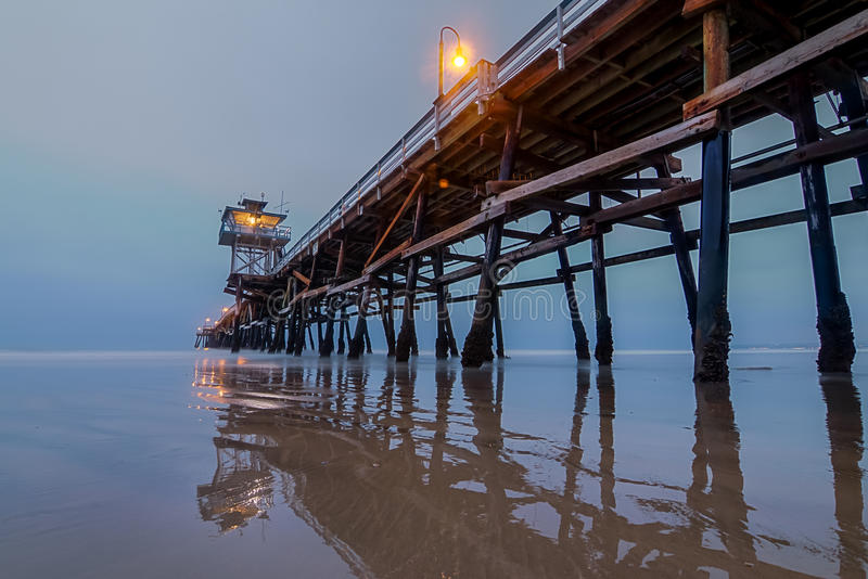 San Clemente pier. At lowtide royalty free stock photo