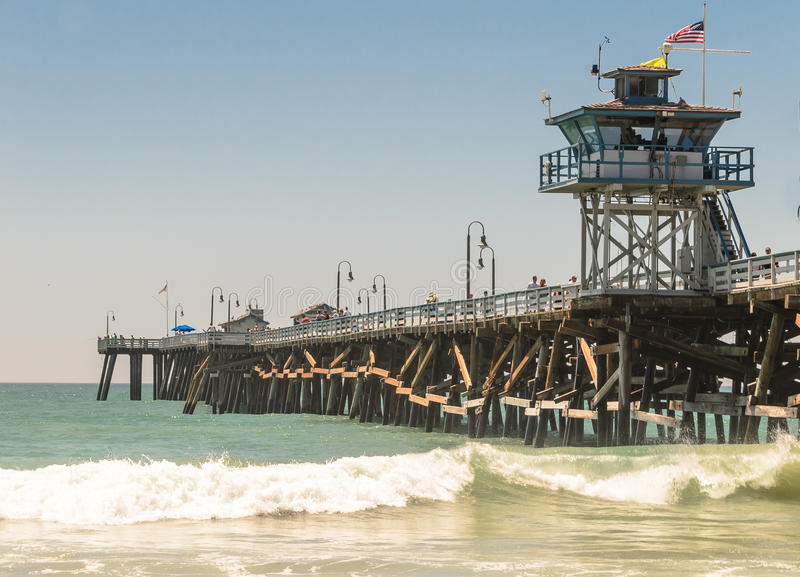 San Clemente Pier. Under the pier in san clemente, california royalty free stock photo