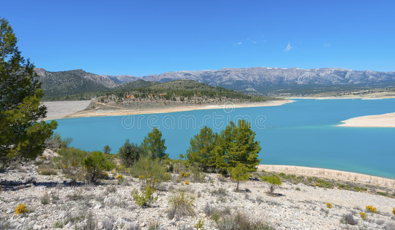 San Clemente Reservoir. At Huescar, Granada Province, Andalusia, Spain royalty free stock images