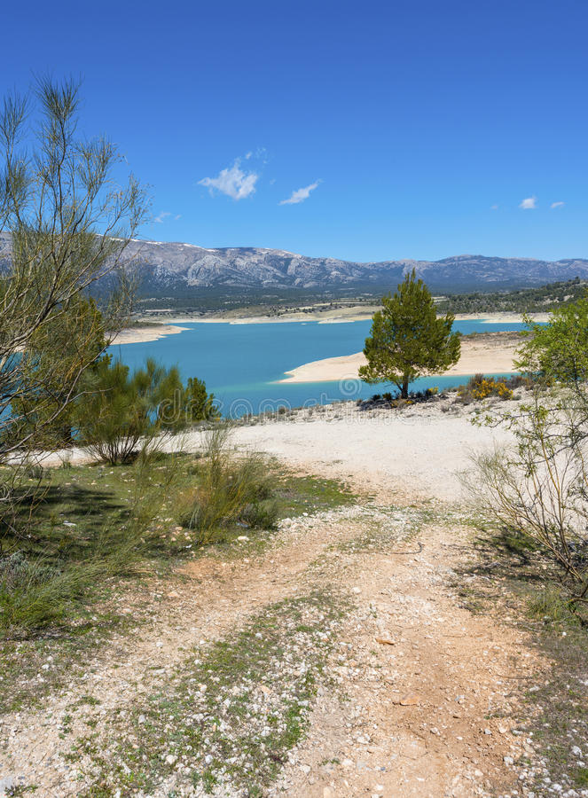 San Clemente Reservoir. At Huescar, Granada Province, Andalusia, Spain stock photography