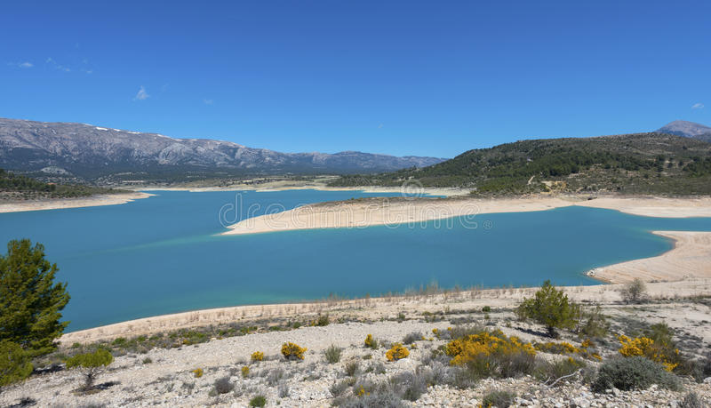 San Clemente Reservoir. At Huescar, Granada Province, Andalusia, Spain stock image
