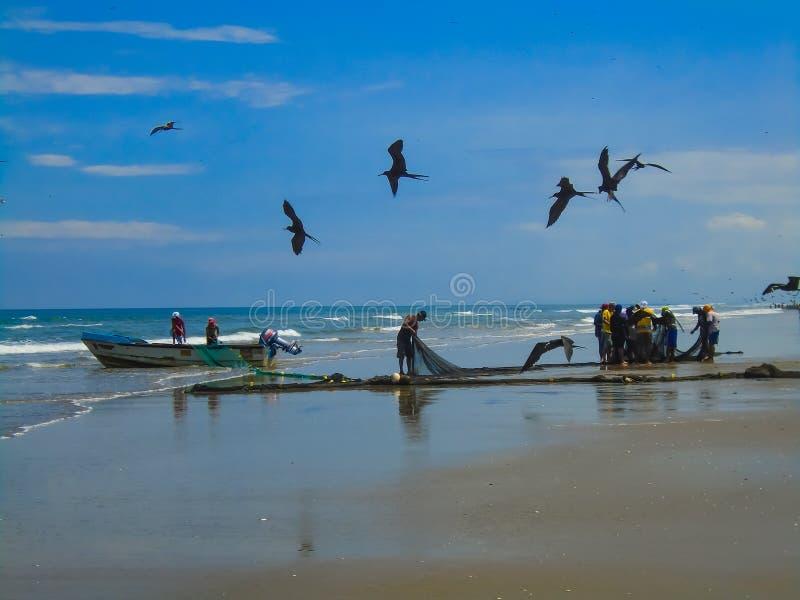 San Clemente strand i Ecuador fotografering för bildbyråer