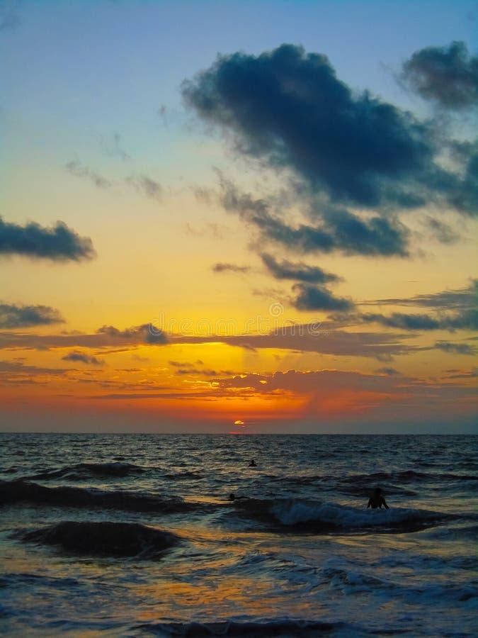 San Clemente strand i Ecuador royaltyfri fotografi
