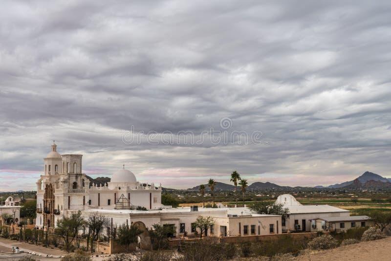 San complex Xavier Del Bac Mission, Tucson, Arizona royalty-vrije stock afbeelding