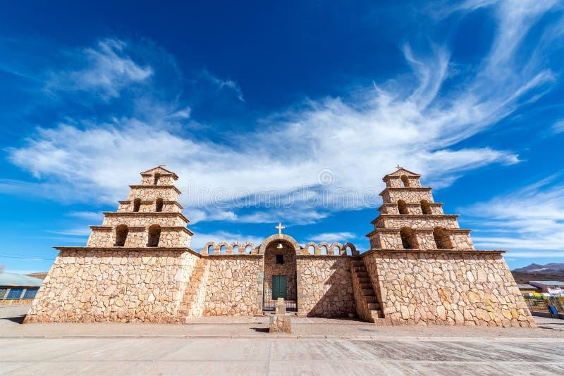 San Cristobal, Bolivia, chiesa immagine stock