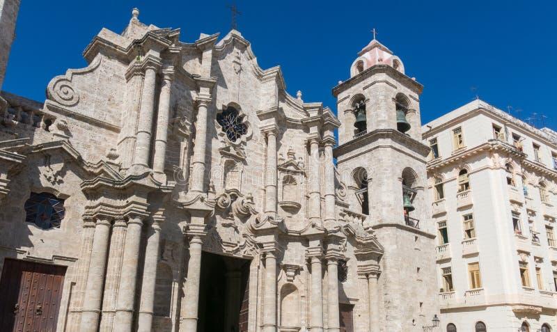 San Cristobal Cathedral, die Cavana-Kathedrale, in altem Havana, Cu lizenzfreies stockfoto