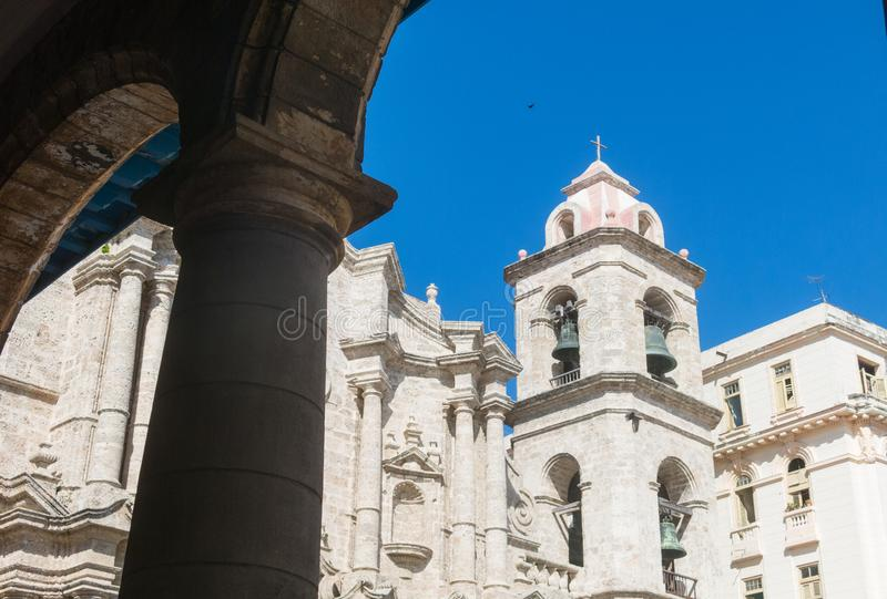 San Cristobal Cathedral, Havana Cathedral, in altem Havana, Cu lizenzfreies stockbild