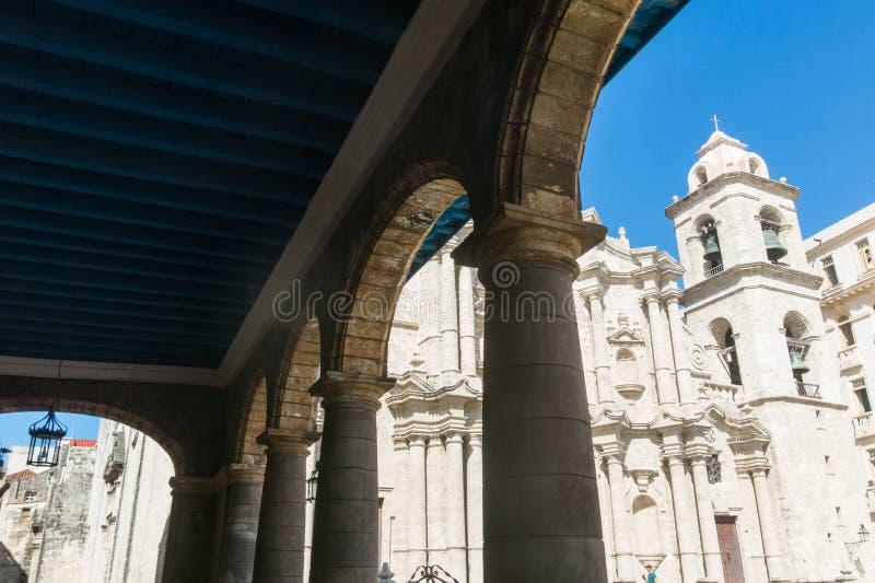 San Cristobal Cathedral, Havana Cathedral, in altem Havana, Cu stockfotos