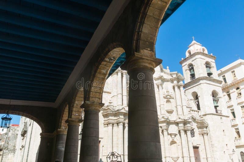 San Cristobal Cathedral, Havana Cathedral, in altem Havana, Cu stockfotografie