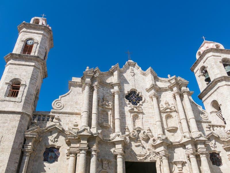 San Cristobal Cathedral, Havana Cathedral, in altem Havana, Kuba stockbild