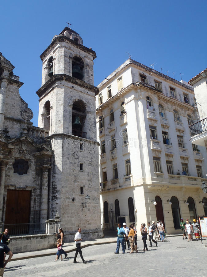 San Cristobal in Cathedral Square stock photo