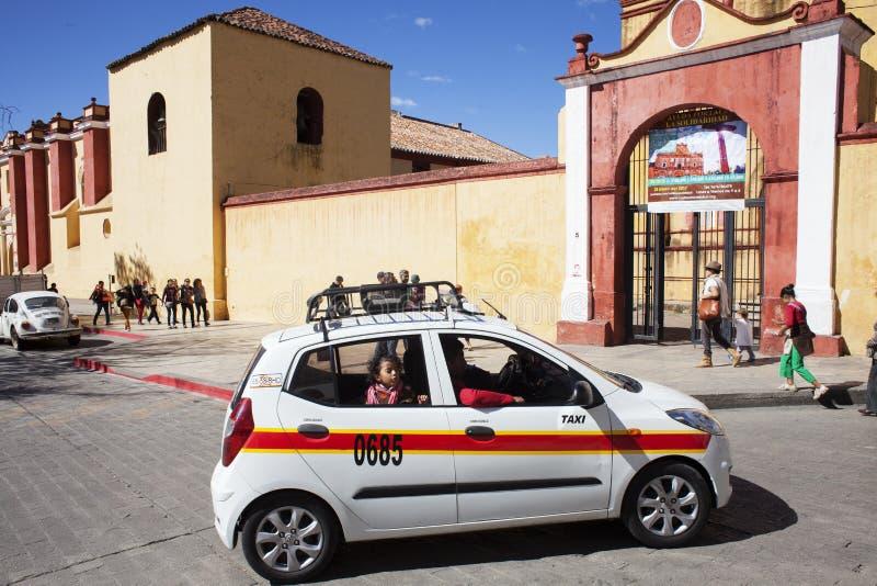 San Cristobal De La Casas Street Scene, Chiapas, Mexico. royalty free stock photo