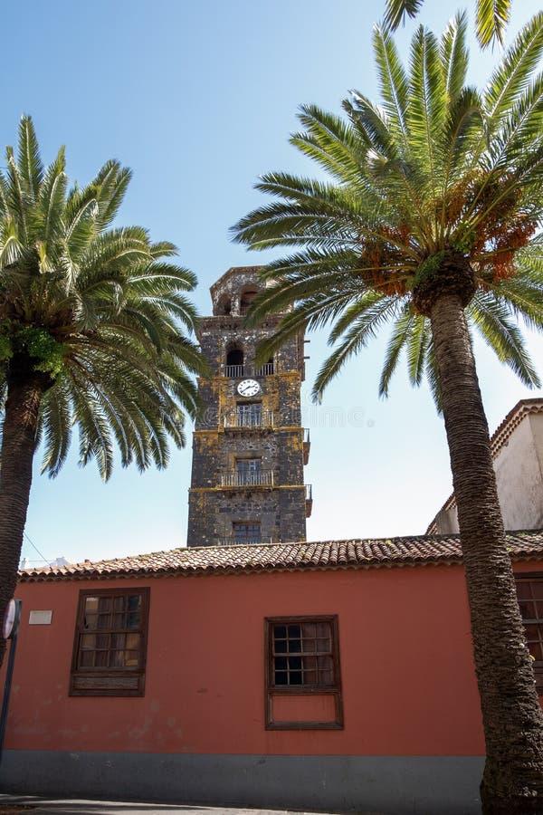 2019-02-22 San Cristobal de la Laguna, ³ n di Nuestra - di Santa Cruz de Tenerife Señora de la Concepcià - immagini dal centro u fotografia stock