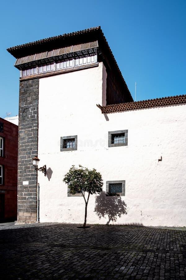 2019-02-22 San Cristobal de la Laguna, Santa Cruz de Tenerife - iglesia de San Juan Bautista o de Las Clarisas - imágenes del fotos de archivo libres de regalías
