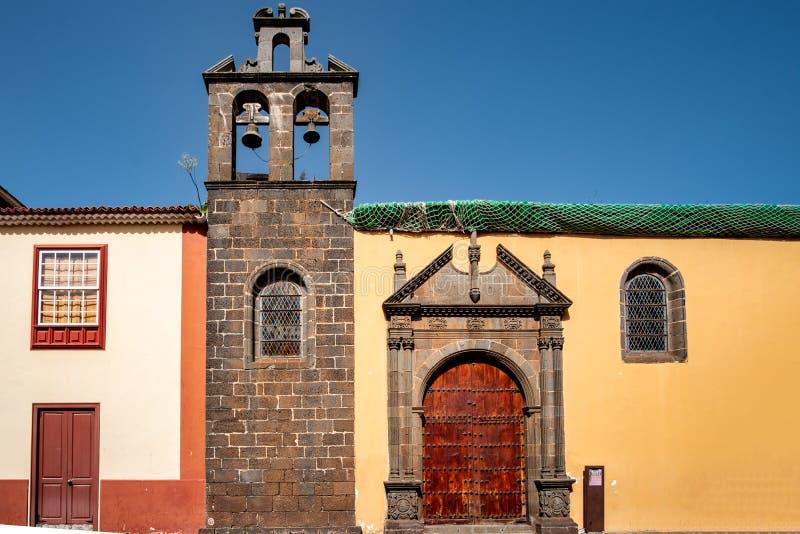 2019-02-22 San Cristobal de la Laguna, Santa Cruz de Tenerife - Kerk en vroeger klooster van San AgustÃn - Beelden van royalty-vrije stock afbeeldingen
