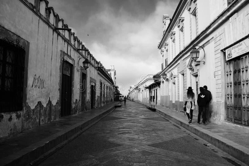 San Cristobal De Las Casa, Mexique 29 d?cembre 2018 : Rues et b?timents color?s dans San Cristobal photographie stock