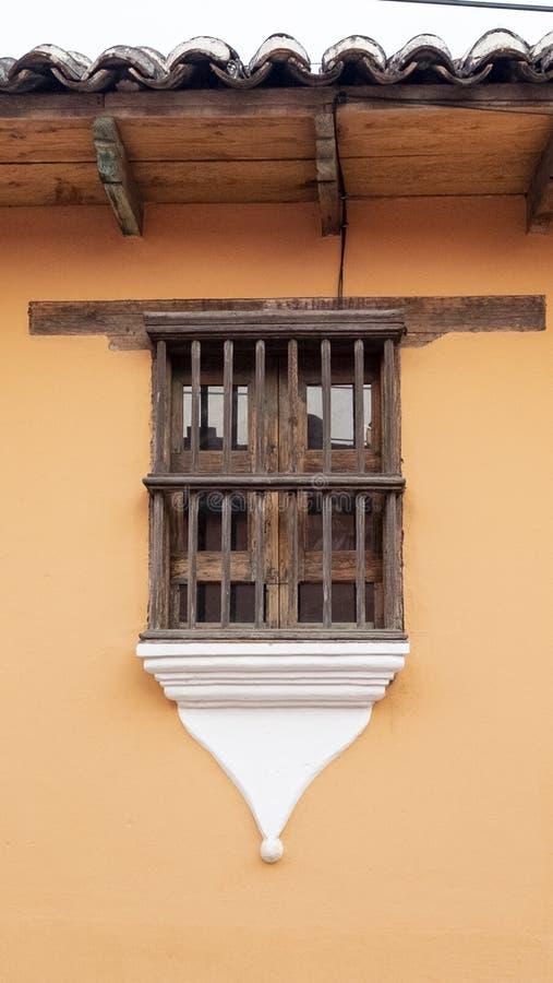 San Cristobal de las Casas, Chiapas, Mexico - March 7th, 2018: window exterior on street of the colonial town stock photography