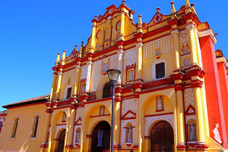 San Cristobal de Las Casas domkyrka III royaltyfri fotografi