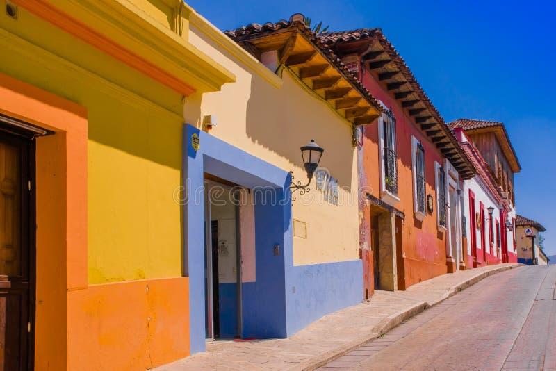 SAN CRISTOBAL DE LAS CASAS MEXICO, MAJ, 17, 2018: Det är en stad som lokaliseras i den mexicanska staten av Chiapas Stads`en s arkivbilder