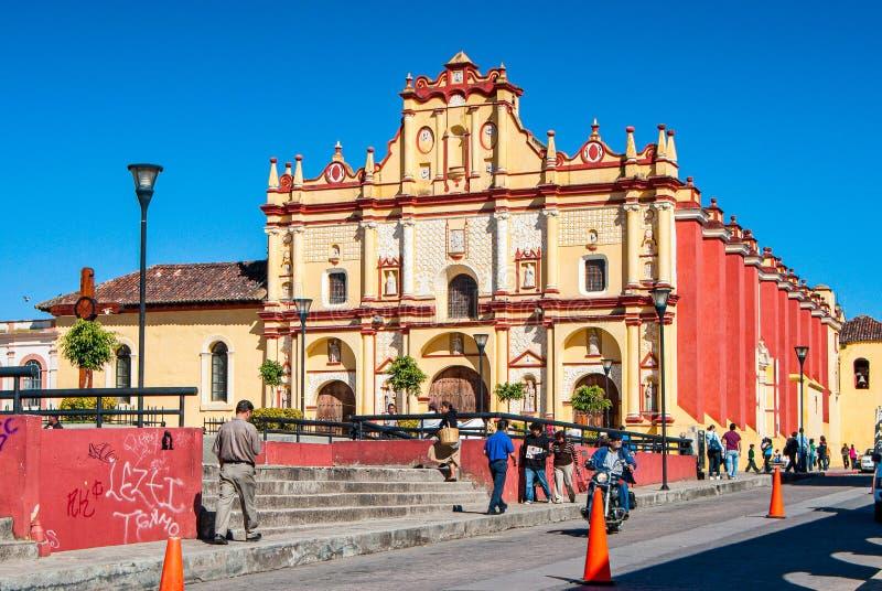 San Cristobal de Las Casas, Mexiko - 25. November 2010 Kathedrale von San Cristobal lizenzfreies stockfoto