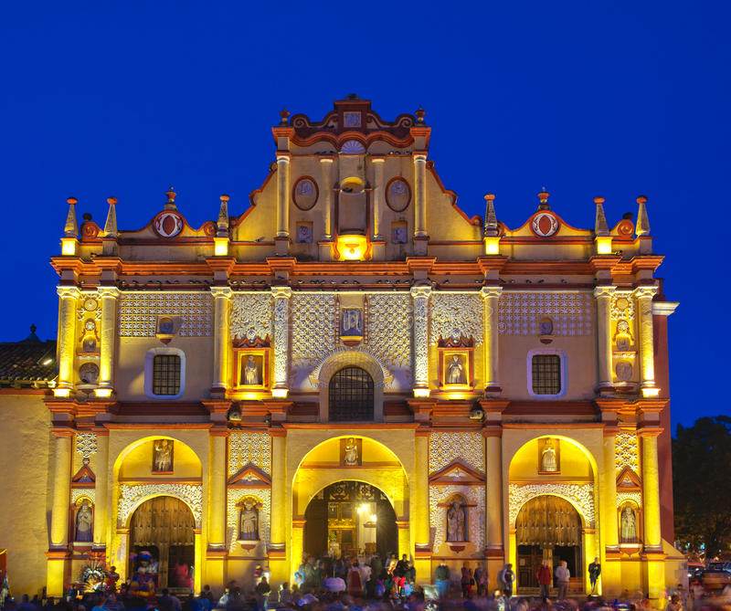San- Cristobal de Las Casaskathedrale. lizenzfreie stockfotos