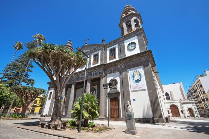 San Cristobal de losu angeles Laguna katedra na Sierpień 13, 2016 w Tenerife, wyspa kanaryjska, Hiszpania fotografia stock