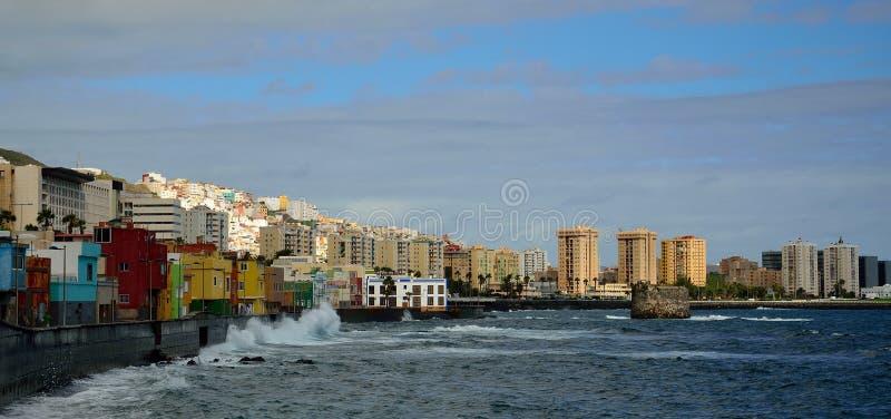 San- Cristobal und Las Palmas-Stadt stockbilder