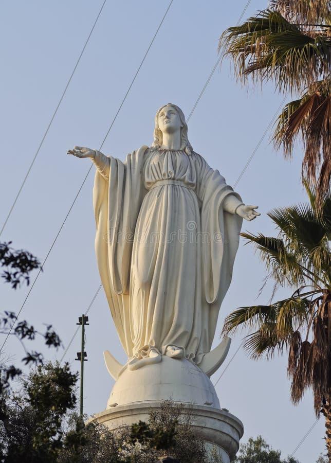 San- Cristobalhügel in Santiago de Chile lizenzfreie stockfotos
