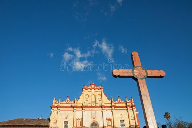 San- Cristobalkathedrale, Chiapas, Mexiko lizenzfreies stockbild