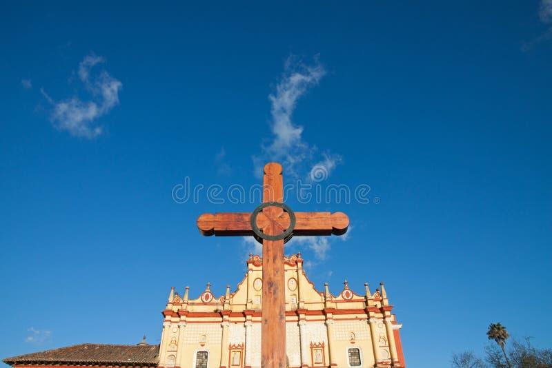 San- Cristobalkathedrale, Chiapas, Mexiko stockfotografie