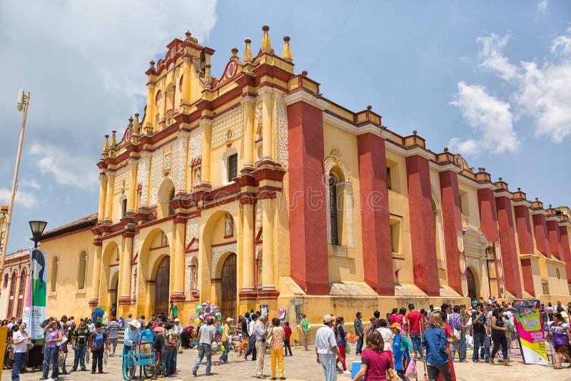 San- Cristobalkathedrale in Mexiko stockfoto