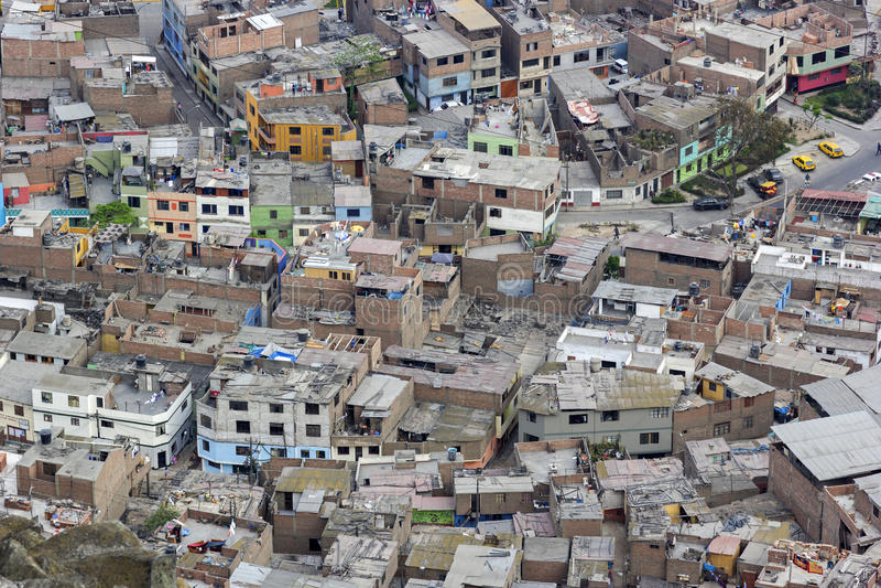San Cristobel slums in Lima in Peru. Slums in Lima in Peru stock images