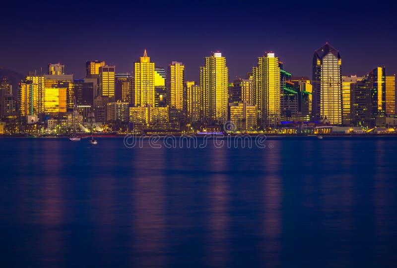 San d'ardore Diego Skyline fotografie stock