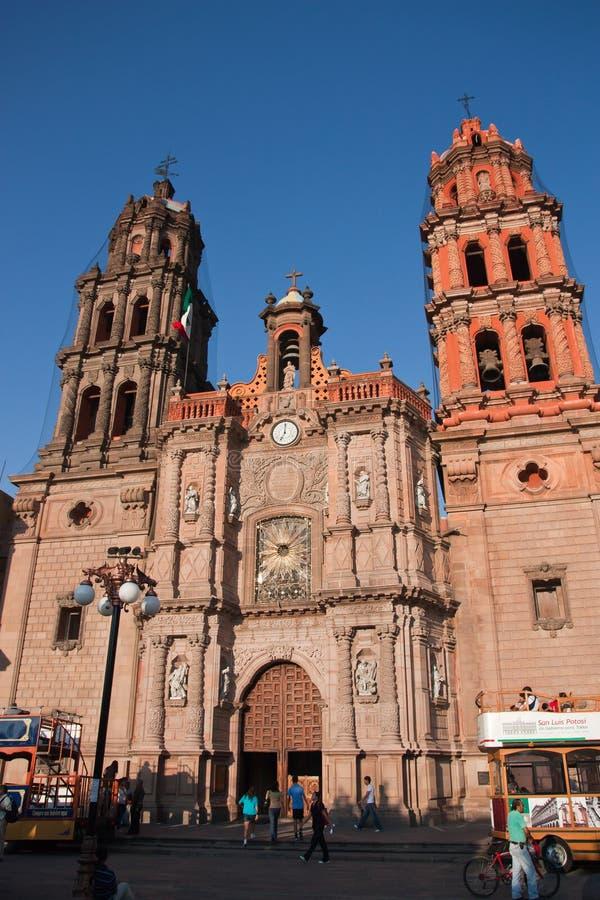 San-de kathedraal van luispotosi stock foto's