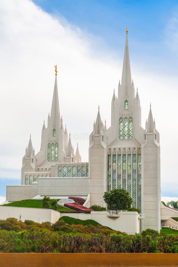 San Diego świątynia Losu Angeles Jolla społeczność california USA zdjęcie royalty free
