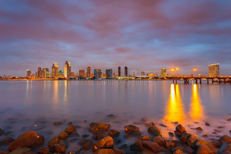 San Diego на ноче стоковое изображение