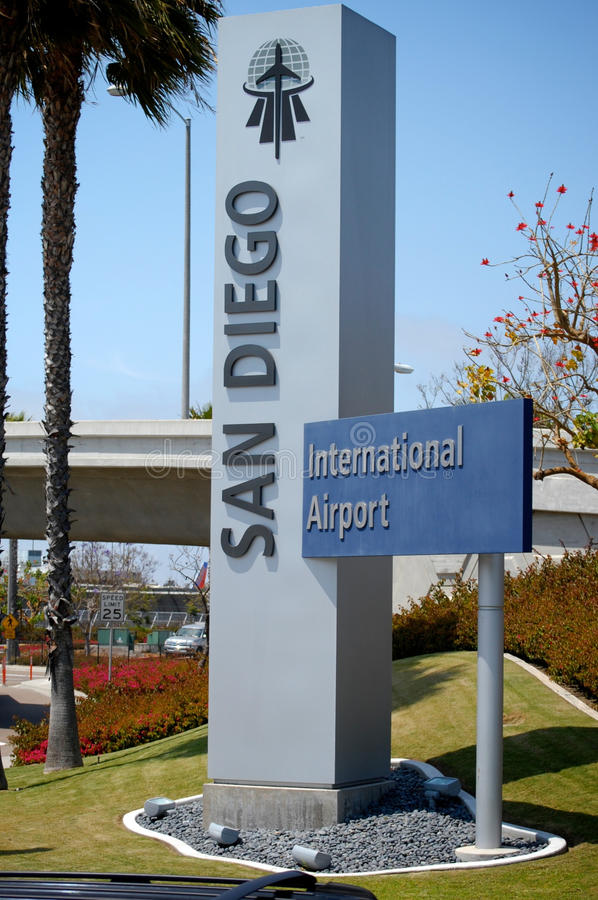 San Diego Airport Sign stock photography