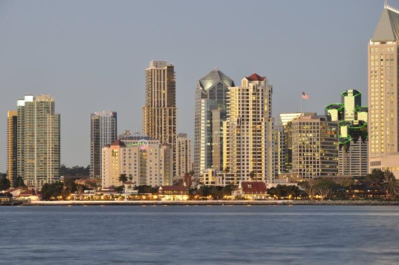 San Diego al crepuscolo immagini stock
