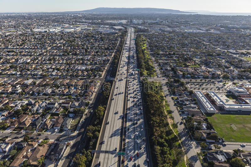 San Diego autostrady Los Angeles południe Powietrzna zatoka zdjęcie royalty free